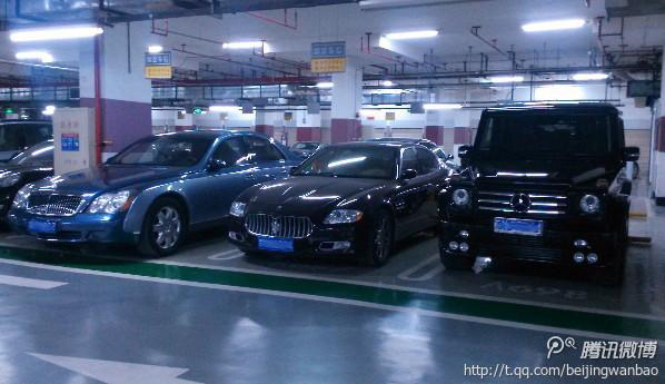 高清图—北京银泰中心地下车库豪车云集号称最牛豪车地下车库