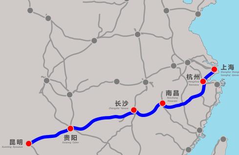 沪昆高铁实现全线轨通 全长2266公里历时8年
