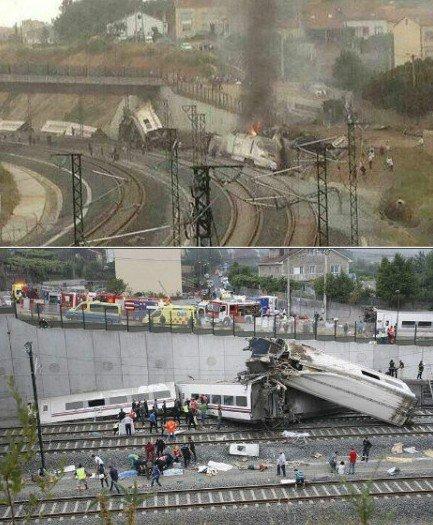 西班牙发生火车脱轨事故 至少45人死亡(图)