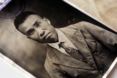 1923年,朱德在哥廷根市警察局申报户籍的登记卡