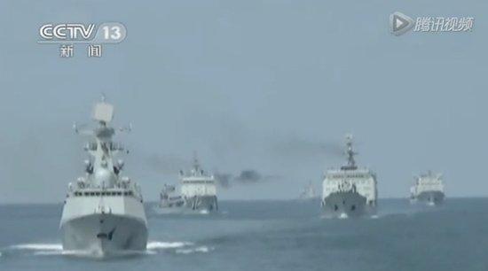 中国7艘军舰绕钓鱼岛巡航半圈 最近距离30海里