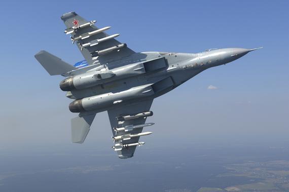 俄罗斯一架米格 29战斗机坠毁