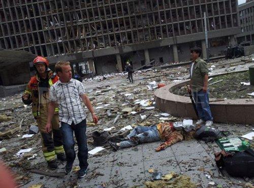 奥斯陆市中心大爆炸已致7人死亡16人受伤(图)