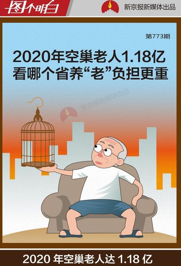 """2020年空巢老人1.18亿 哪个省养""""老""""负担更重"""