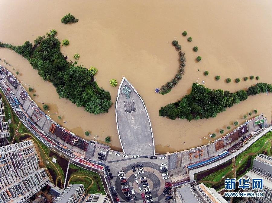 洪峰过境广西柳州现洪水围城2015.6.16 - fpdlgswmx - fpdlgswmx的博客