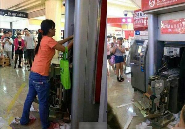 回音壁:女子取款不成手撕ATM机