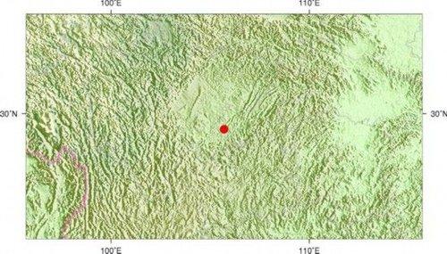 重庆四川交界处发生3.3级地震 震源深度10千米