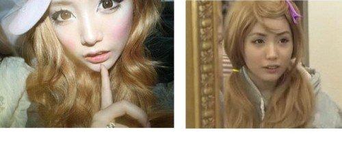 韩女孩两年没卸妆