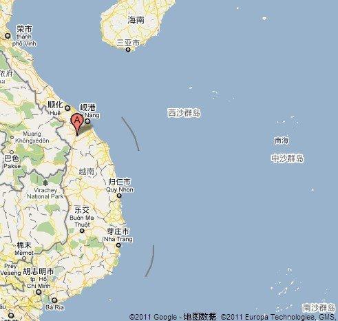 图中a处标识位置是越南广南省