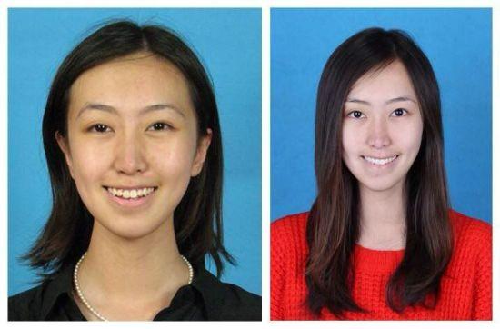 一些清华女生晒出自己刚入学和将毕业的对比照片。