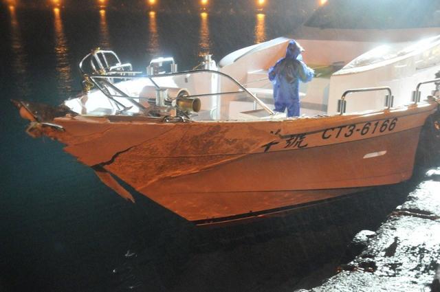 台军军舰擦撞渔船 事后不顾船员死活一路北逃