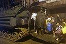 台军出动装甲车抢救民众