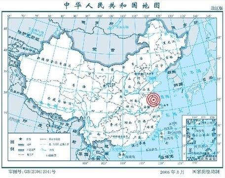 地震方位图。图片据中国地震台网