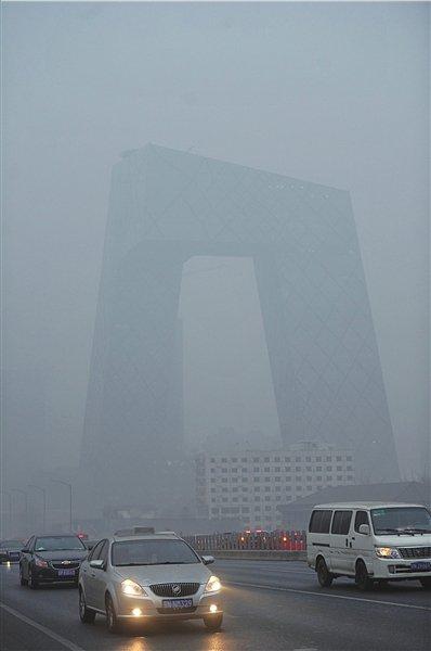 北京城六区空气监测均现重污染 自北向南加重