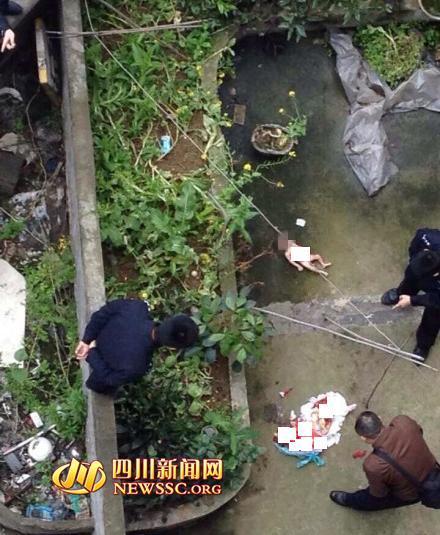 高清图-四川南充市嘉凌区嘉州阳光小区一婴儿被扔下楼摔死