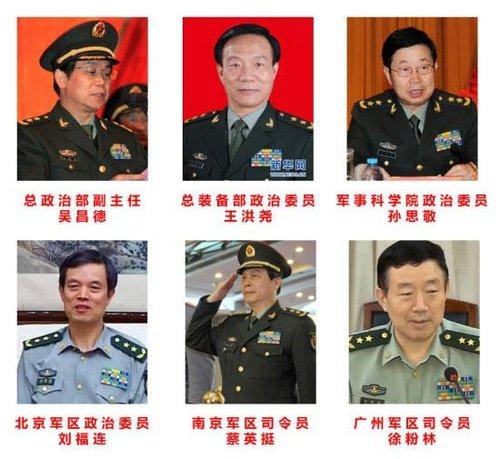 中央军委晋升6位高级军官为上将 - hzr586 - 黄海的博客