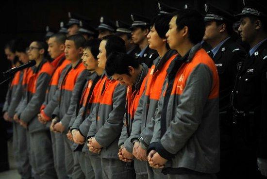 北京一次宣判91名电信诈骗犯 动用76名法警