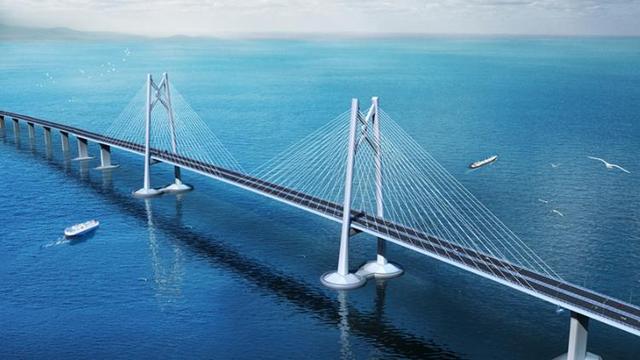 世界最长沉管隧道连接 港珠澳大桥主体工程贯通