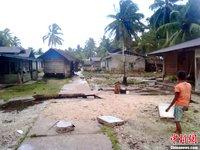 高清组图:印尼发生强烈地震引发海啸
