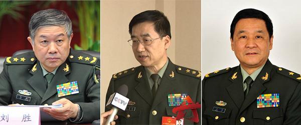 刘胜、张育林、王力调任军委装备发展部副部长
