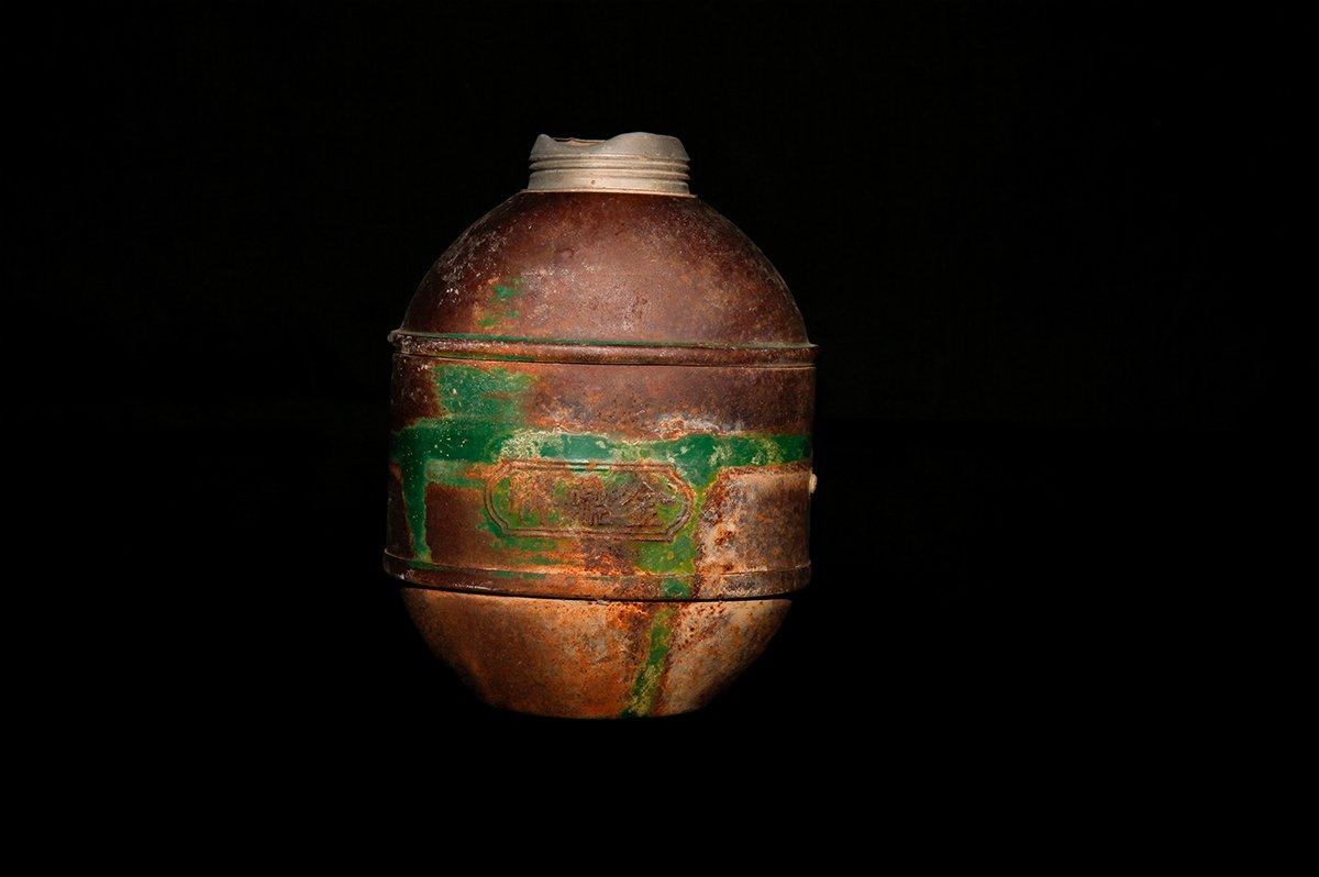 这是生产于广州的金鼎牌水壶,现已停产。水和粮食,是逃亡路上最重要的两样东西。