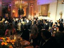 奥巴马在白宫欢迎胡锦涛的国宴现场