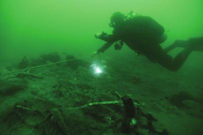 致远舰附近发现北洋海军将士遗骸 已不完整