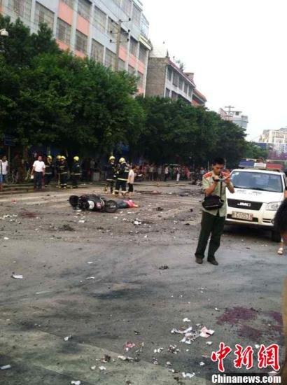 广西桂林爆炸案已致2死45伤 初步确定嫌疑人