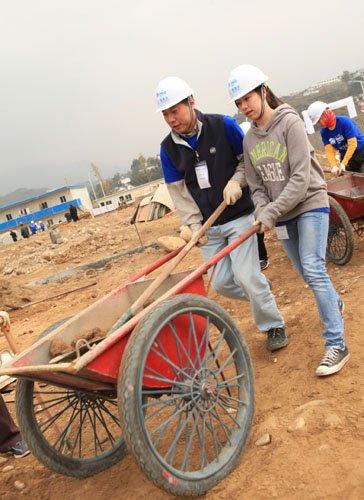 壹基金百余名志愿者赴青川参与灾后重建项目