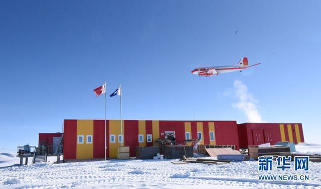 中国首架极地固定翼飞机飞越南极最高区(图)