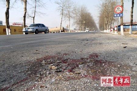 河北沧州河间大货车与三轮车相撞致7死1伤(图)