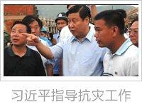 时任浙江省委书记的习近平在受灾严重的温州市苍南县半浃连村视察灾情,指导抗灾工作。