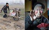 老人推独轮车卖菜攒钱,给5个曾孙包压岁钱