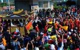 湄洲妈祖抵达台湾 接驾信众超千人