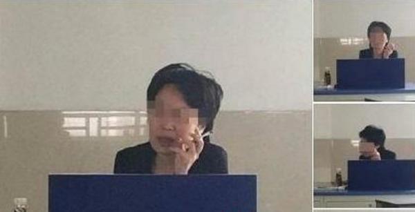 济大上课抽烟女教师被停课 校方称其烟瘾挺大