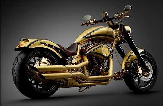 丹麦打造世界最贵土豪金摩托车 造价逾500万