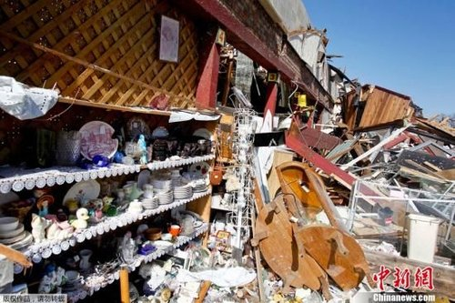 美国多地遭龙卷风袭击 已致13人死亡(图)