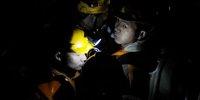 矿山救护人员返回地面