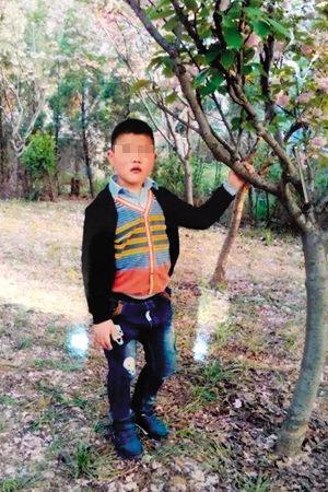 乐乐走失前的照片.图片来自网络-再现 瘦如干尸 13岁男孩走失半年救图片