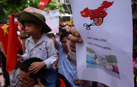 越南连续六周爆发反华示威 遭警方强行驱散