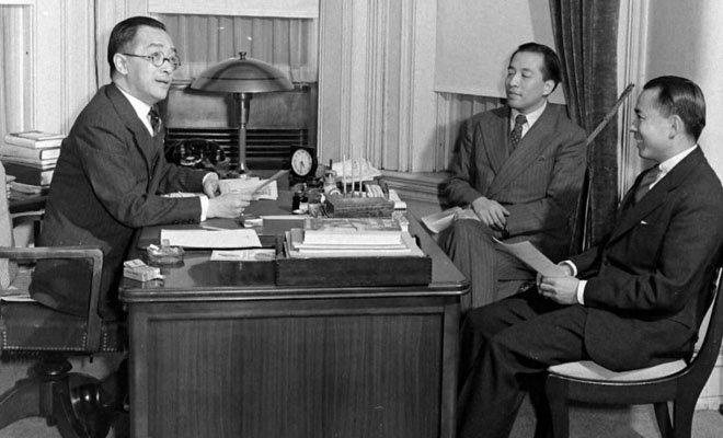 1939年,任驻美大使期间的胡适