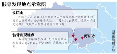 北京山洞内发现2具人体遗骸 疑为8年前走失驴友