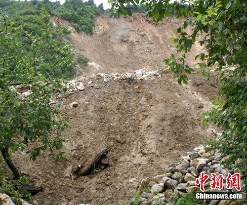 甘肃陇南降特大暴雨 泥石流达十万立方米(图)