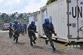 中国赴刚果维和部队演练