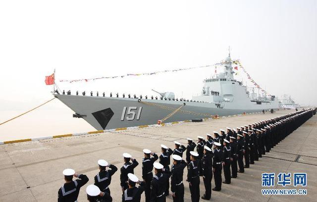 中俄军演中方出动10艘战舰19架战机 中华神盾舰领衔