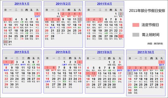 国务院公布明年放假安排 春节休2月2日-8日