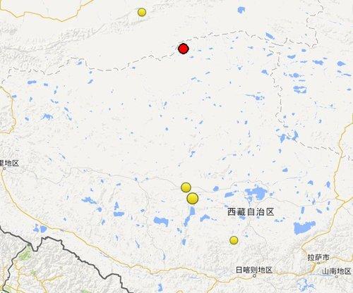 西藏那曲尼玛县与阿里地区改则县交界4.5级地震