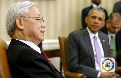 奥巴马与越共总书记谈及南海 未提中国(图)