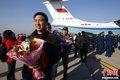 空军撤侨首架运输机抵京