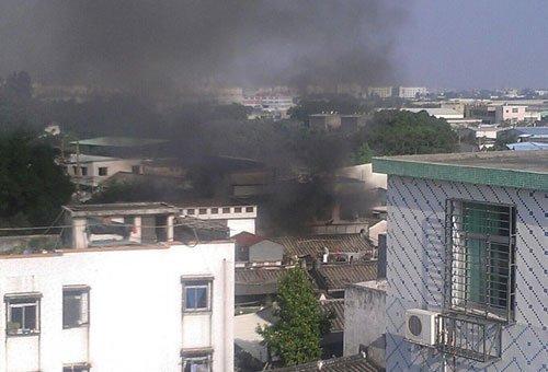 广东汕头坠毁军机为歼-7战斗机